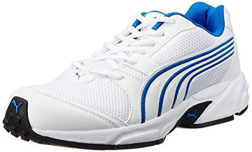 Puma Men's Neptune DP White-Bright Cobalt Running Shoes - 8 UK