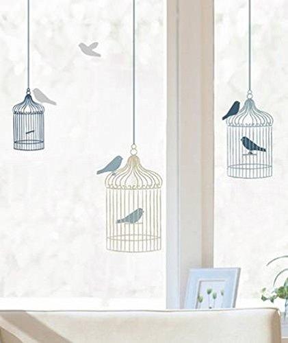 Fensterdeko/ Fensterfolie/ Fenstersticker -Vogelkäfige- 24 x 69 cm