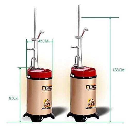 ZNDDB Tragbare Dusche - 220V / 2000W Mobile Konstanttemperaturspeicherdusche, Haushaltsdusche, Zeitgesteuertes Wasser Mit Konstanter Temperatur, 0-55 °