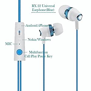 Etcetera Universal Earphone, Headphone, Headset For Reach Bliss RT15 , All Other Reach Models And For All Other Mobile Brands (Blue)