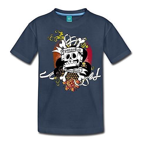 Bob L'Éponge Pirate SpongeBob SquarePants T-shirt Premium Ado de Spreadshirt®, 158/164 (12 ans), bleu marine