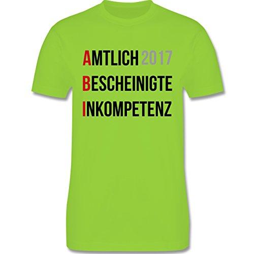 Abi & Abschluss - ABI 2017 - Amtlich Bescheinigte Inkompetenz - Herren Premium T-Shirt Hellgrün