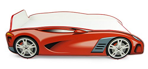 *Autobett Leomark SPORT CAR Kinderbett mit Matratze 140 x 70 Juniorbett inklusiv Matratze*