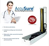 ACCUSURE Blood Pressure Monitoring Machine 4.2mm Hg PROFESSIONAL SPHYGMOMANOMETER for Doctor & Student Blood Pressure Machine with UPPER ARM CUFF & 12 MONTHS WARRANTY (without steto)