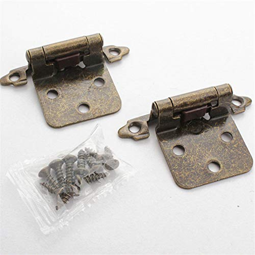 Raing Amerikanische Gerade armtür Scharnier geplatzte Bronze-Tür selbstschließende Scharnier Schrank Eisen Scharnier Feder Scharnier Tür Scharnier (2 Packungen)
