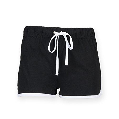 Skinni Fit - Short de sport -  Femme Multicolore - Black/ White