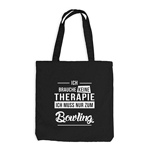 Jutebeutel - Ich Brauche Keine Therapie Bowling Schwarz