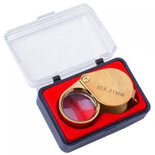 Lente d'ingrandimento portatile - TOOGOO(R) 30X 21 mm Gioielli Lente d'ingrandimento Lente di ingrandimento Loupe - d'oro