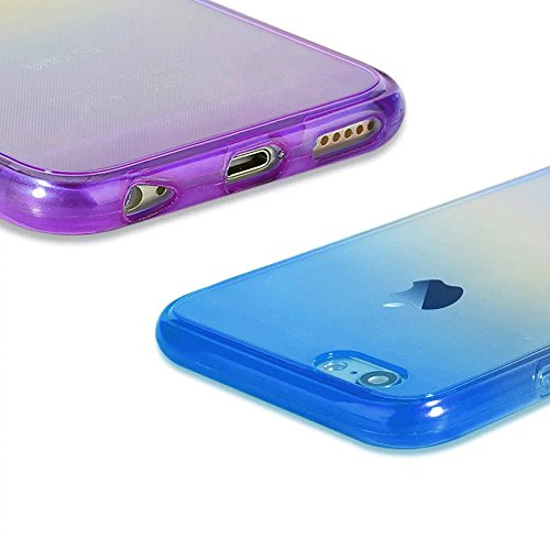 MOMDAD Coque iPhone 6 Plus TPU Silicone Souple Coque Etui iPhone 6S Plus Transparent Case iPhone 6 Plus / 6S Plus 5.5 Pouces Silicone Transparent Soft Housse Cover Case de Protection [Antichoc][Anti-p Revêtement à 360 degrés-2