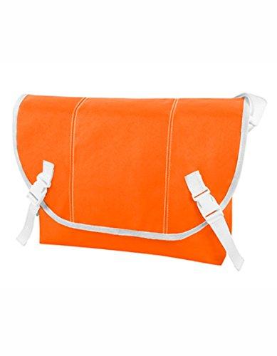 Halfar , Borsa Messenger  Grigio anthracite 34 x 28 x 10 cm arancione