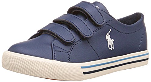 Polo Ralph Lauren Kinder (Polo Ralph Lauren Scholar EZ, Unisex-Kinder Sneakers, Blau (Navy Canvas/White PP w red), 26 EU)