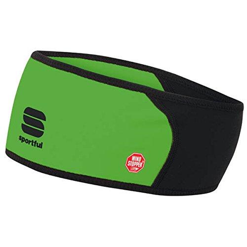 Sportful Windstopper Headband - Green Fluo/Black