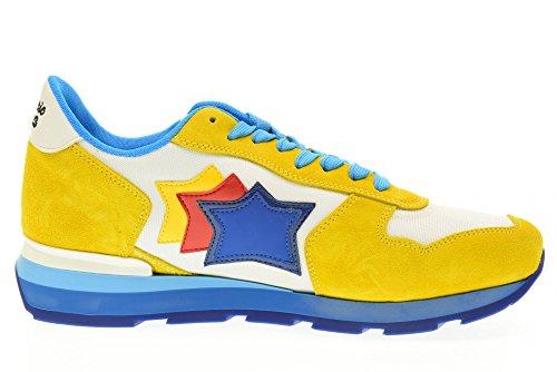 ATLANTIC STARS scarpe uomo sneakers basse ANTARES GBC 58B Giallo-celeste