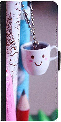 Snoogg Smile Cups Designer Protective Phone Flip Case Cover For Panasonic P55 Novo