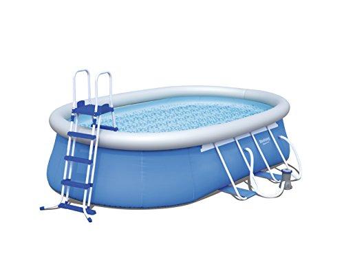 Bestway Steel Pro Oval Frame Pool  Set mit Filterpumpe + Zubehör, 549 x 366 x 122cm