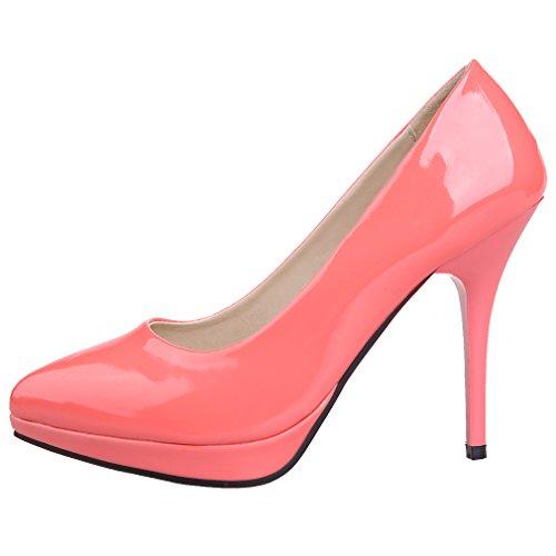 Sapato Pontudo Salto Rosa Bombas Soild Enmayer Mulheres Alto 8EwSq1BH