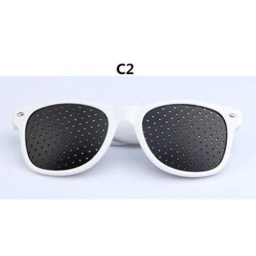 YHEGV Mode Männer Frauen Vision Care Pin Sonnenbrille Anti-Myopie-Brille Eye Exercise Sehkraft verbessern natürliche