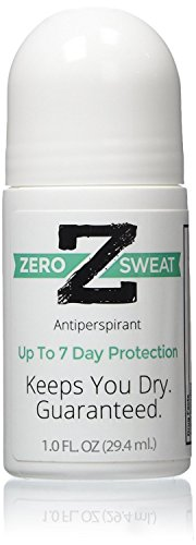 Zerosweat Antiperspirant-100% Guarantee-Up to 7 Day Protection Per Use-No Mess Application-1 Bottle Lasts up to 2 Months by ZeroSweat