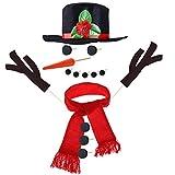 TOYMYTOY Kit Pupazzo di Neve Kit di Decorazione Pupazzo di Neve 15pcs Kit di Pupazzo di Neve Winter Party Kids Outdoor Giocattoli Decorazione Decorazione Natalizia