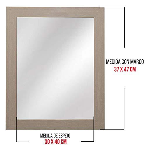 Chely Intermarket - Espejo de Pared Cuerpo Entero 30x40cm Marco Exterior 38x48 cm Beige MOD-128|...