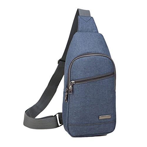 Oxford Tuchmänner Kastenbeutelfreizeit-Schulterbeutel Sports Diagonales Paket Blue