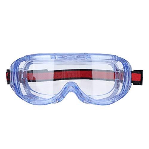 Schutzbrillen, Labor Brillen mit kratzfesten Klar Gläsern, Transparente Antibeschlagscheibe, Chemikalien Spritzer, Säurebeständig, Laborchemiearbeiten, Arbeiten im Freien