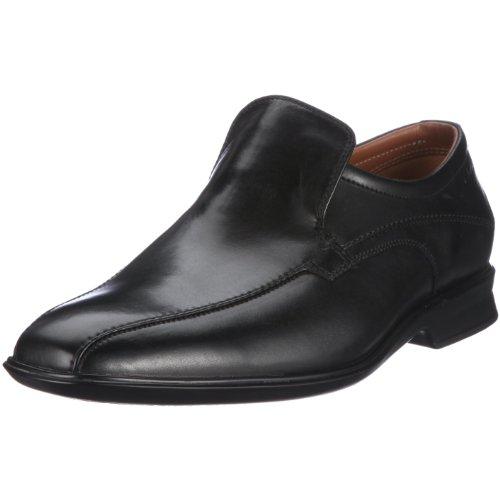 Clarks Goya Emir 20343889, Mocassini uomo, Nero (Schwarz (Black Leather)), 39.5
