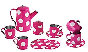 MAGNI-Servicio de café en estaño con Puntos, 13pcs. , 2400, Rosa