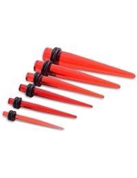 Urban Male Kit de Base Piercings Écarteurs Six Pièces en Acrylique UV 3mm-10mm.