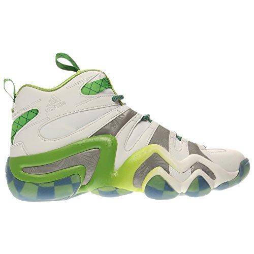 Adidas Performance Crazy 8 Basketball-Schuh, klar Onix, 6,5 M Us White/Silver Metal/Black