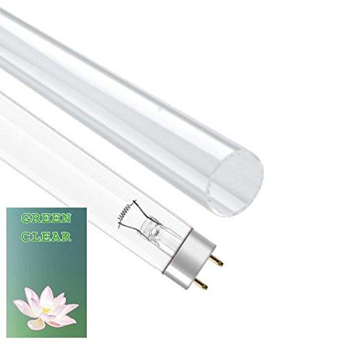 Genuine Green Clear UV-Leuchtmittel und Quarz Ersatz Sleeve Combo Pack für Teich UVC (Ultraviolett-Filter) - Filter Combo Pack