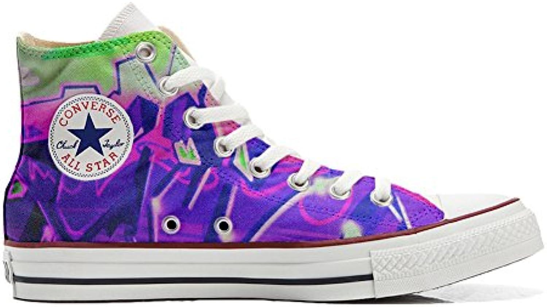 Converse All Star zapatos personalizados (Producto Artesano) con la pintada púrpura nebuloso  -