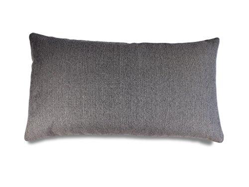 Kissenbezug GOMERA 40x70 DUNKEL GRAU für Luxus Sofakissen, Dekokissen, exklusive Design