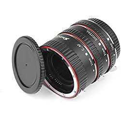 D & F mise au point automatique Macro Tube d'extension de EOS EF/EF-S objectif Gros plan pour Canon DSLR Camera