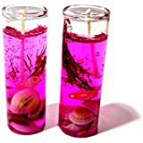 Shot Glass Gel Colors Candle (Pink, Pack Of 2)