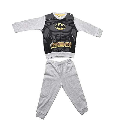 Non applicabile pigiama pigiamino bambino completo pantalone e maglia con stampa batman colori grigio melange taglia 18 mesi