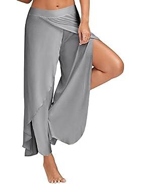 SKY Comfortable to wear it !!! Sra pantalones de yoga pantalones de pierna ancha Loose Pants Wide Leg Culottes...