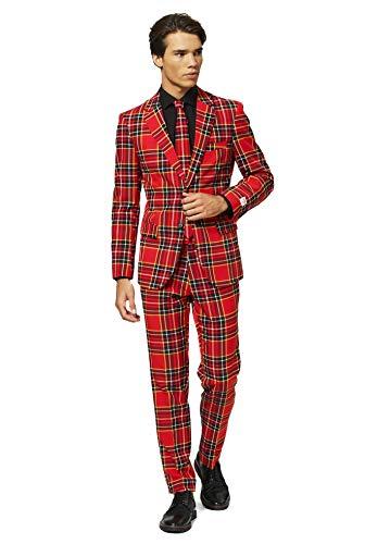 Opposuits abiti divertenti per natale - the lumberjack - completo: giacca, pantaloni e cravatta - eu 48