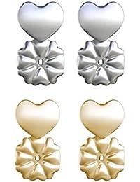 Joyfulshine BAX Magic BAX Earring Lifters 2 Pares Earring Backs Ajustable hipoalergénico Earring Lifts Se Adapta a Todos los Pendientes Post