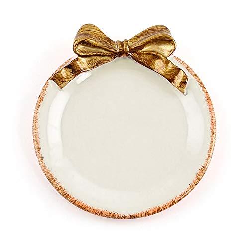Tamaño: 10,9 x 10,16 cm. Material: resina. Color: blanco, rosa, amarillo, verde, morado. Propósito: bandeja para tartas, bandeja para galletas, caja de joyería, bandeja para tartas, portavasos, etc. Detalles del producto: Diseño: utilizando el lazo i...