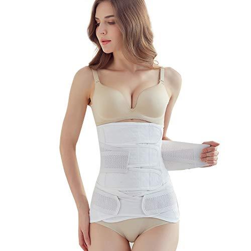 QIER-SYD Abdominal Gürtel Produktion nach dem Abschnitt des Bauches Produktion von Baumwolle abnehmen Fettverbrennung Körper Körper Bindung Gurt Reduktion Bauch weibliche Hüftgurte Weiß L(70-98cm)