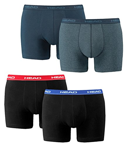 4 er Pack Head Boxer Boxershorts Men Pant Unterwäsche Rot/Blau/Schwarz / Blue Heaven