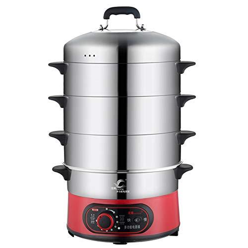 HRRH Dampfgarer, 220 V, 1300 W, große Kapazität, Edelstahl, elektrischer Dampfgarer, Timing, elektrischer Dampfgarer, elektrischer Heißtopf, mehrschichtiger Dampfgarer
