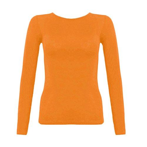 Divadames -  Polo  - Maniche lunghe  - Donna Orange