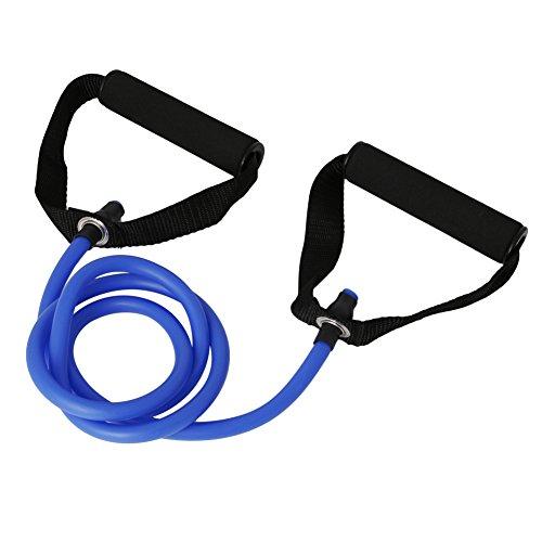 frische Fitness Resistance Band Rope Tube Latex elastische Übung für Gym Yoga Pilates Pink Yoga Wort Zugseil