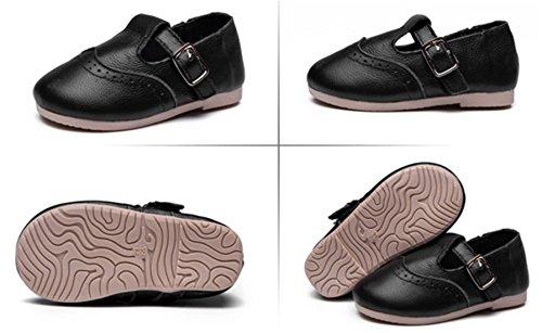 DADAWEN Sandale /Chaussures Marche Bébé Fille pour 1 à 12 an Noir