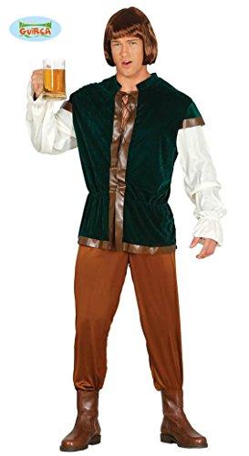 KOSTÜM - TAVERNEN WIRT - Größe 52-54 (Mittelalterliche Wirt Kostüm)