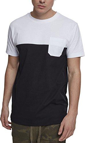 Urban Classics Herren T-Shirt Color Block Summer Pocket Tee, Schwarz (Black/White 00050),  Preisvergleich