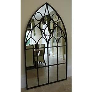 Très Grand Miroir à poser au sol avec cadre en métal Idéal avec fonction Métropolitaine Livraison gratuite au Royaume-Uni