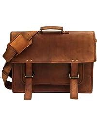 Znt Bags , 15 Inch Genuine Leather Laptop Office Messenger Bag For Men & Women NO - 1074